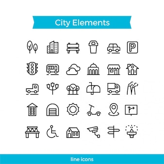 Stadtelement icon pack