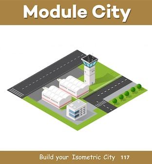 Stadtflughafen mit transport