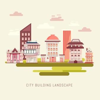 Stadtgebäude landschaft vektor-illustration