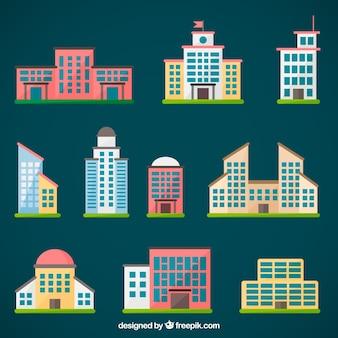 Stadtgebäude sammlung
