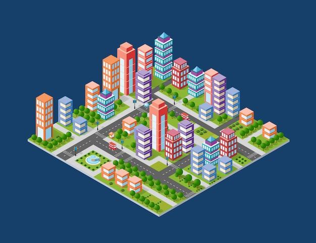 Stadtgebiet der stadt