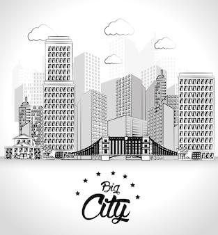 Städtisches Design, Vektorillustration.