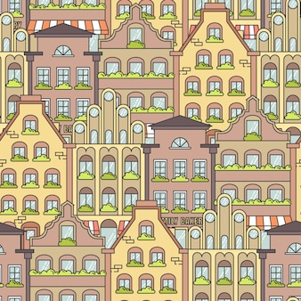 Stadtlandschaft nahtlose muster