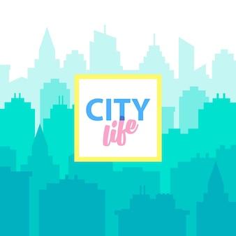 Stadtleben stadtlandschaft