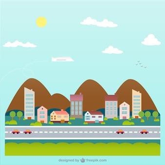 Stadtleben zeichnung vektor