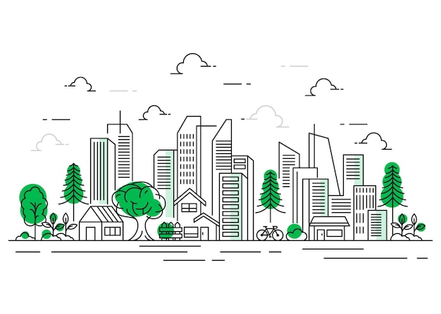 Stadtlinien-illustrationsdesign