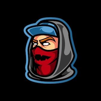 Stadtmann mit maske