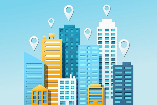 Stadtnavigation bunt