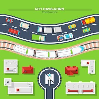 Stadtnavigation draufsicht
