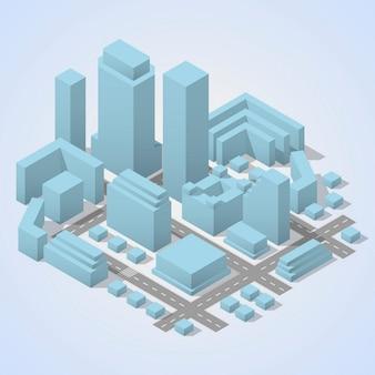 Stadtplan isometrisch