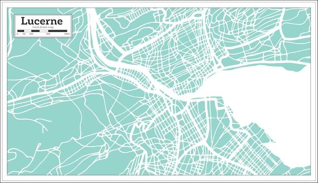 Stadtplan luzern schweiz im retro-stil