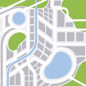 Stadtplan mit straßen highways und bereichen gps-navigation