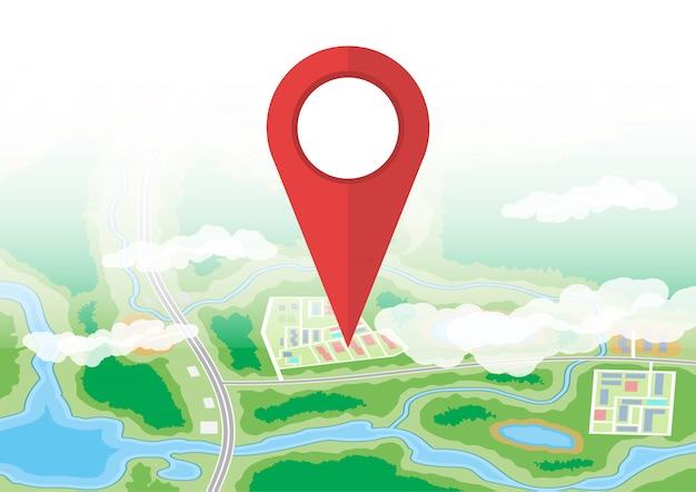 Stadtplan-symbol. gps und navigation