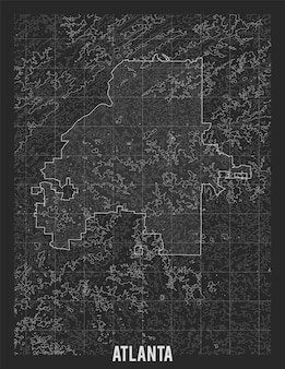 Stadtplan von atlanta.