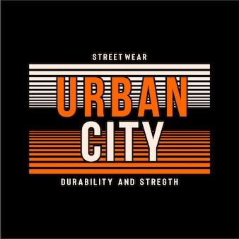 Stadtstadt - typografie grafik Premium Vektoren