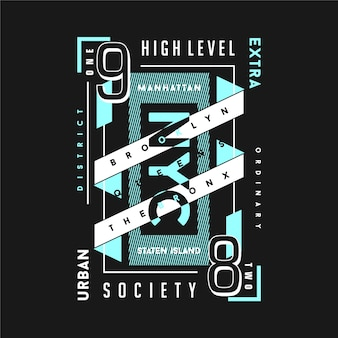 Stadtteil, außergewöhnliche textrahmen-grafik-typografie für t-shirt