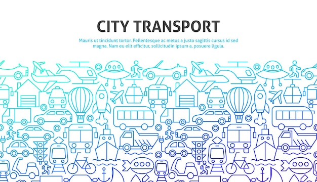 Stadtverkehrskonzept. vektor-illustration des umrissdesigns.