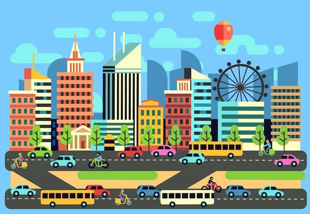 Stadtverkehrslandschaft