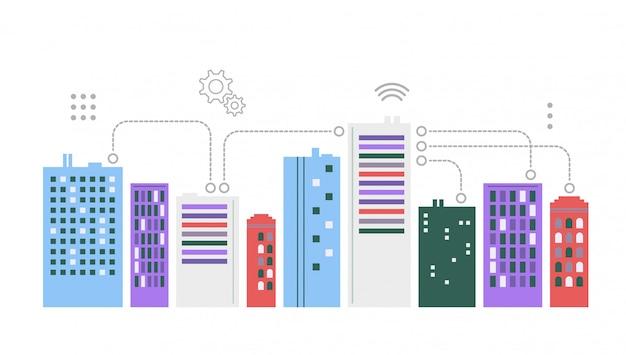 Städtische landschaft. smart city-konzept.