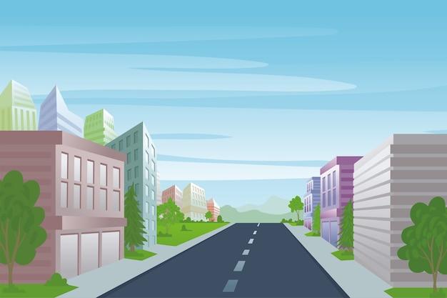 Städtische straßen- und bürogebäude