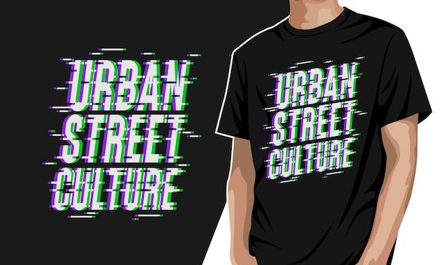 Städtische straßenkultur - grafisches t-shirt