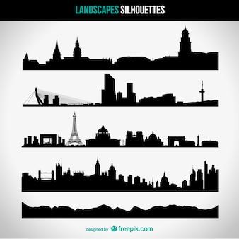 Städtischen skyline vektor
