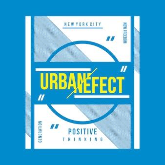 Städtischer effekttypographie-t-shirt entwurf