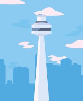 Städtischer stadtstadthimmel des wolkenkratzers
