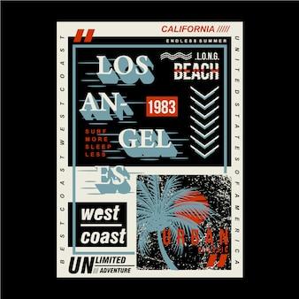 Städtisches grafikdesign der sommerzeit für bereites druckt-shirt