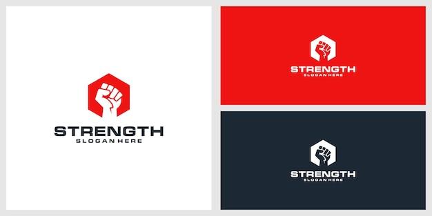 Stärke logo design vorlage