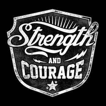 Stärke und mut