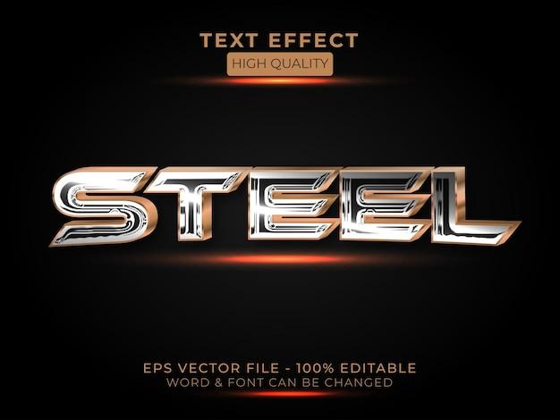 Stahl-texteffektstil bearbeitbarer texteffekt