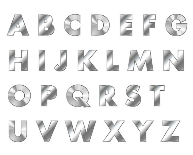 Stahlbuchstaben metall schriftart