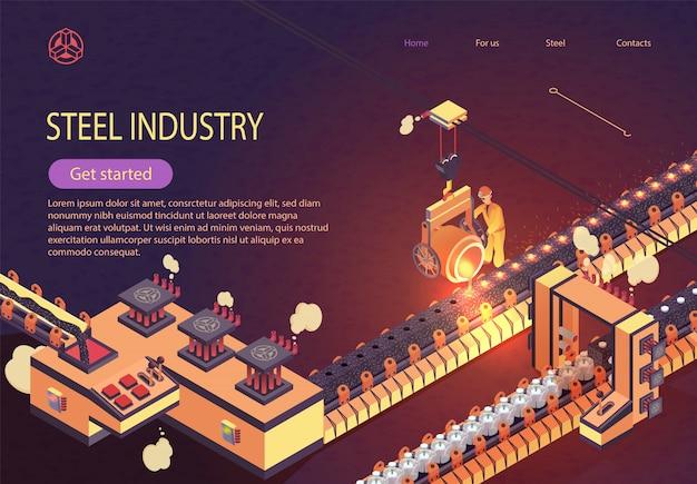 Stahlindustrie-fahne mit eisen-schmelzförderer