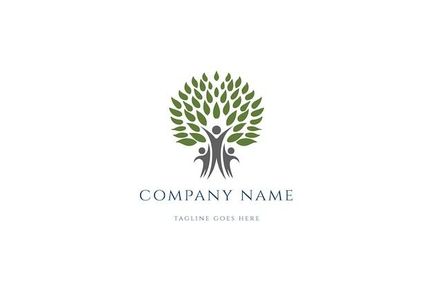 Stammbaum für wohltätigkeit, gemeinschaft, vielfalt und stiftung logo design vector