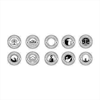 Stammbaum-stempel-siegel-emblem-logo-vektor-design