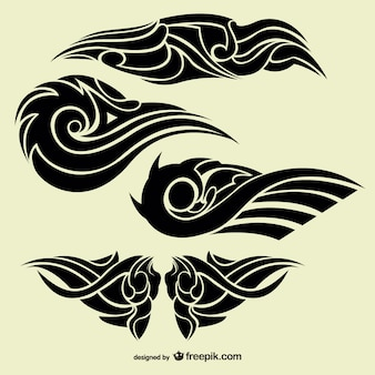 Stammes-abstrakter tattoos sammlung