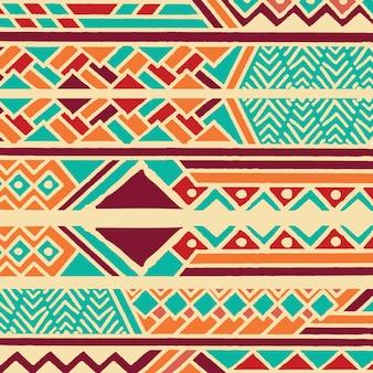 Stammes- ethnisches buntes böhmisches muster mit geometrischen elementen, afrikanischer schlammstoff, stammes- design
