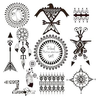 Stammes-indianer-set