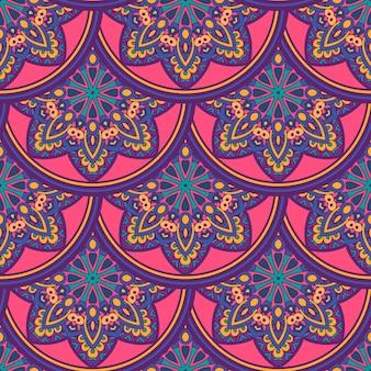 Stammes-indische ethnische nahtlose mandalas wiederholen design