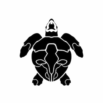 Stammes-meeresschildkröte logo tattoo design schablone vektor illustration