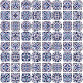 Stammes-vektor-ornament. nahtloses afrikanisches muster. ethnischer teppich mit chevrons. aztekischer stil. geometrisches mosaik auf der fliese, majolika. antikes interieur. asiatischer teppich. geo-druck auf textil. kente-tuch.