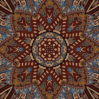 Stammes-vintage ethnische nahtlose muster herbst geometrische ornamentik