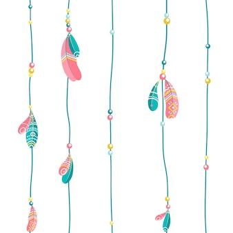 Stammesfedern hängen