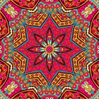Stammeskunst böhmen nahtlose muster ethnischer geometrischer druck