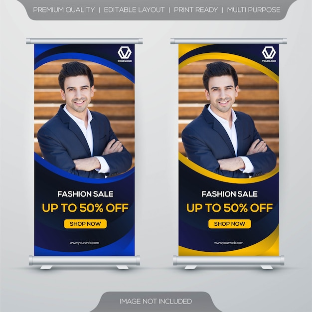 Stand banner template design