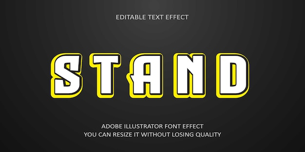 Stand editable text effect