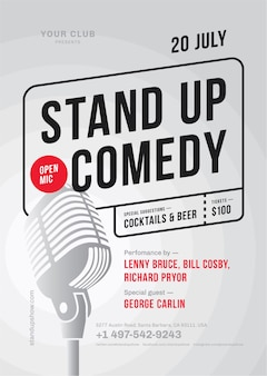 Stand up comedy poster vorlage