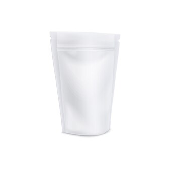 Stand-up-kaffeebeutel mit wiederverschließbarer reißverschlusskerbe und realistischer, matter textur