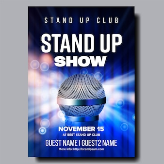Stand up night show poster